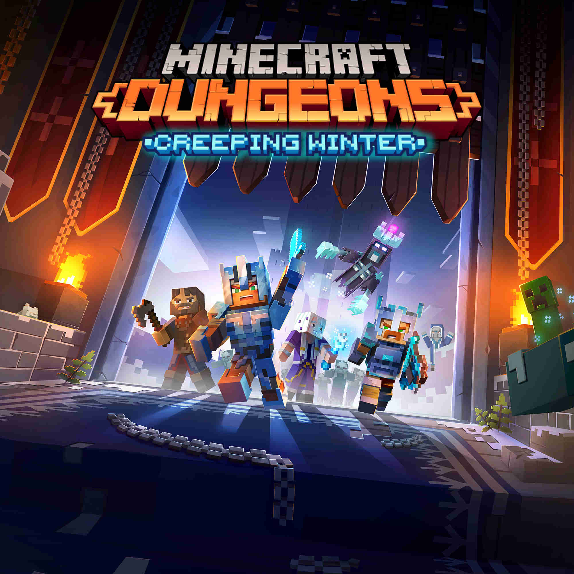 Minecraft Dungeons Creeping Winter DLC